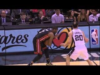 Dwyane Wade's flop on Manu Ginobili (Game 2, NBA Finals 2014)