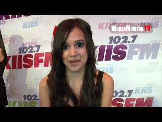 Megan Nicole sends a special message to her fans at 102.7 KIIS FM's Wango Tango 2013
