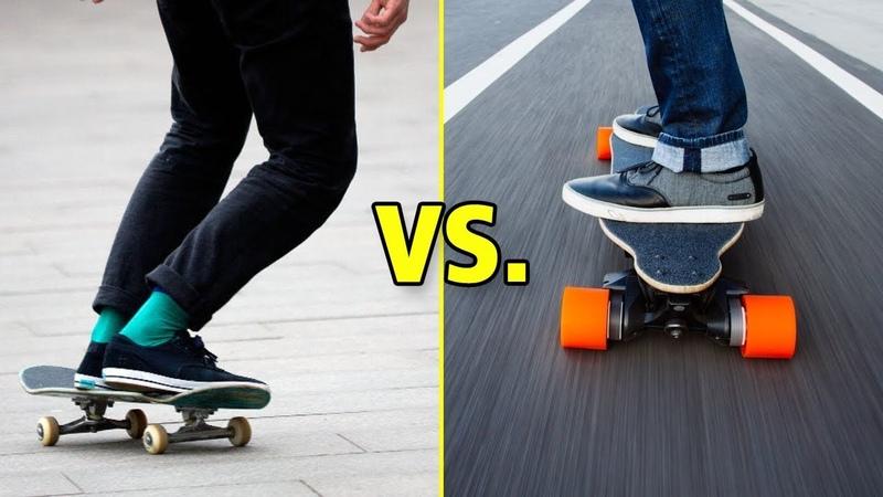 Skateboarding vs. Longboarding (Wins Fails)