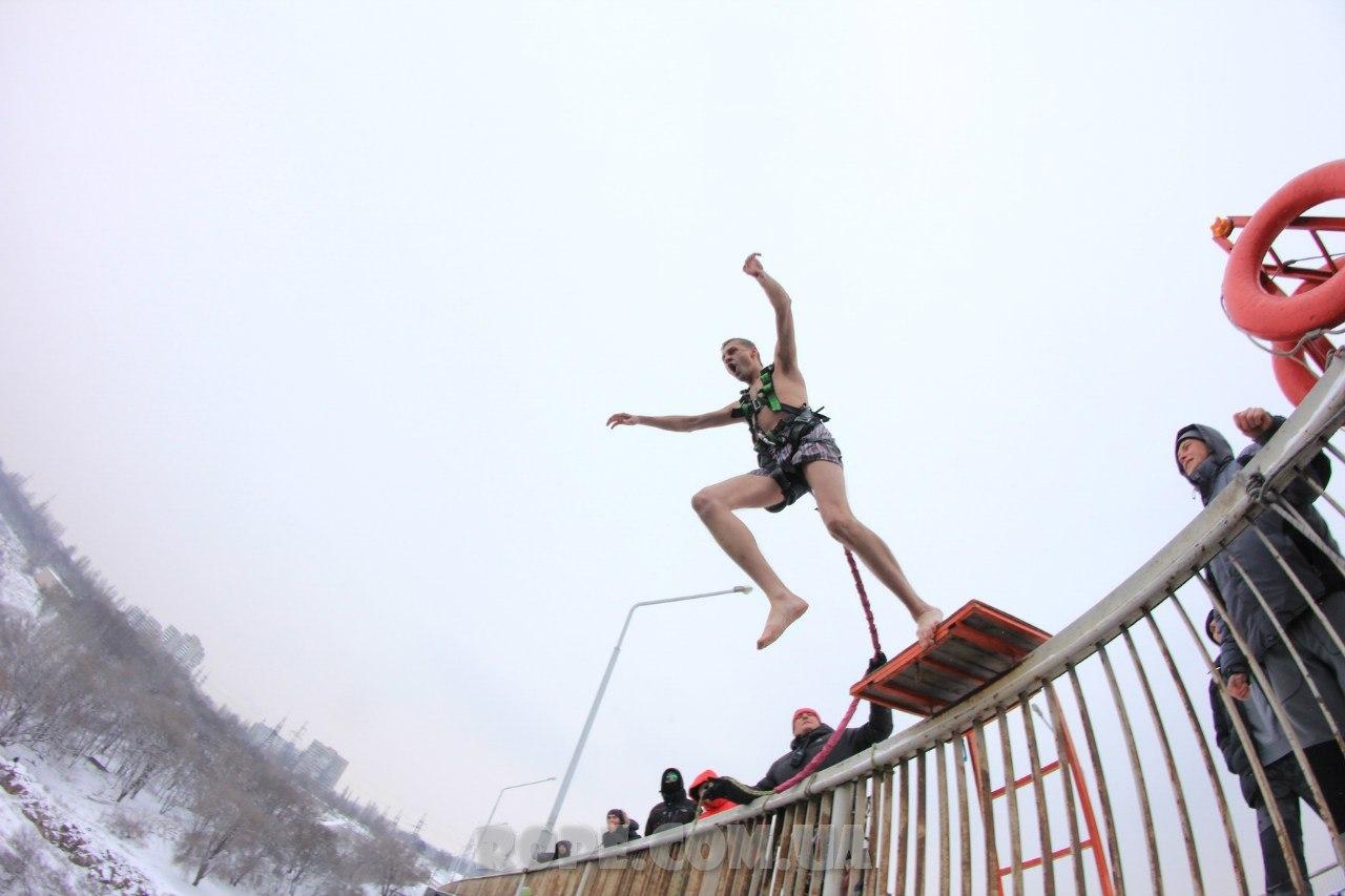Арочный мост Запорожье, rope jumping джампинг в украине