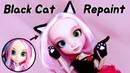 Doll Repaint 시즈카를 신비로운 오드아이를 가진 검은 고양이로 꾸며주기 Shibajuku Girls shizuka black cat 딩가의 회전목마 DINGA