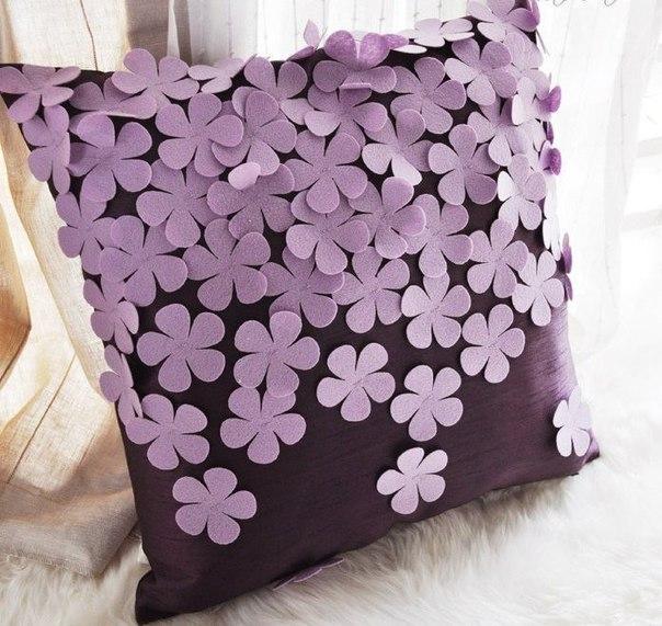 Как украсить подушку своими руками мастер класс