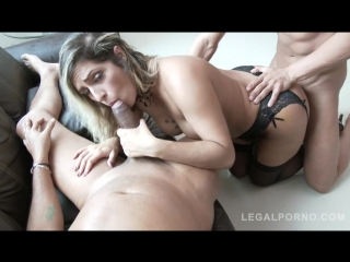Latina slut Mia Linz finally DAPed by two huge cocks [Gape, Lingerie, Stockings, Anal, Interracial, DP, Latin, Big tits, DAP, A2