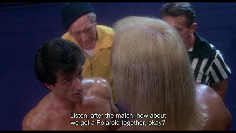 The ultimate male versus the ultimate meatball — Hulk Hogan versus Sylvester Stallone in Rocky III (1982) 1080p