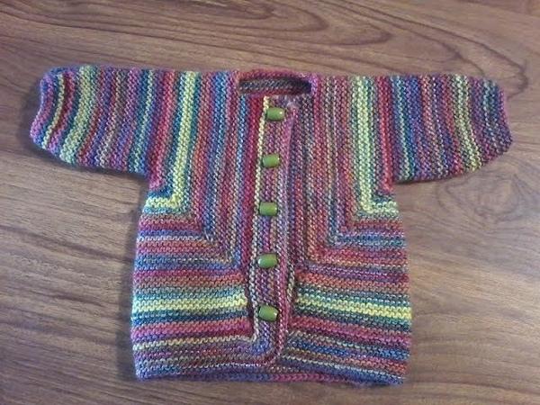 DIY / Tuto tricot / Tricoter une veste pour bébé /Surprise jacket bébé/ 3 mois