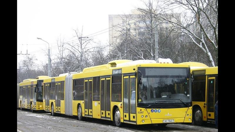 Автобус Минска МАЗ-215,гос.№ АС 1940-7, марш.100 (22.12.2018)
