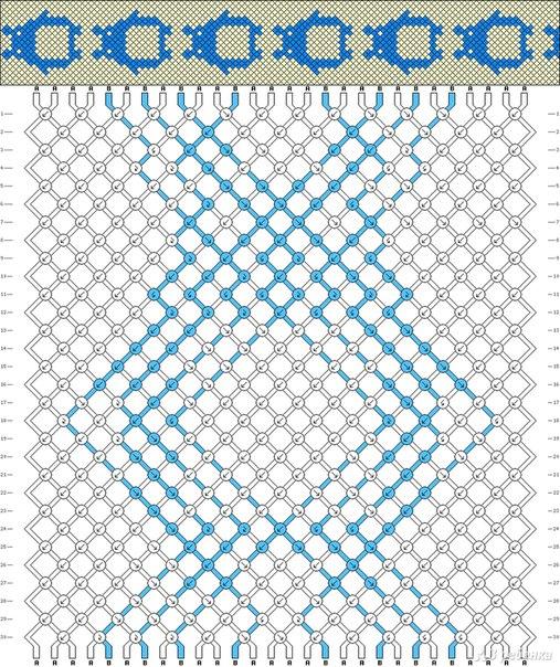 Схема животных косое плетение