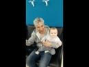Супердедушка Вячеслав Леонидович с внучкой Афиной 8 месяцев Апрель 2018