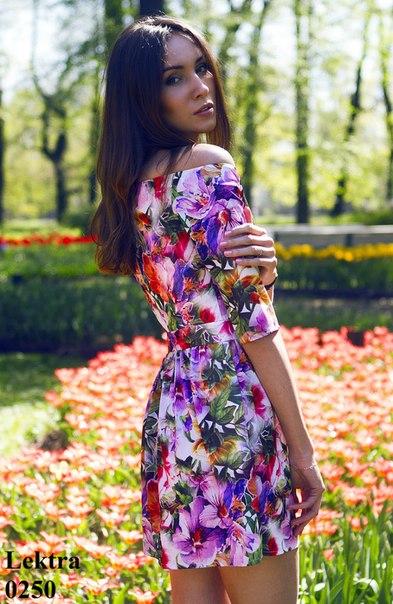 Яркое Платье В Цветочек Летнее 81