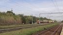 Тепловоз ЧМЭ3Э 6723 с хозяйственным поездом