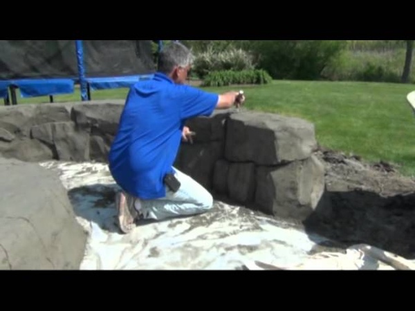 One Day Walls Vertical Decorative Concrete 180 - Stacking Special Grout Mix