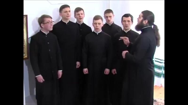 Ніч глибокая хор студентів Волинської Духовної Семінарії