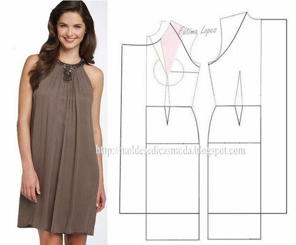 Самое простое платье шитье