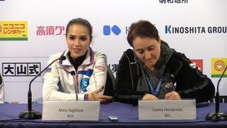 Alina Zagitova Short Press Conference GP Helsinki 2018 11 2