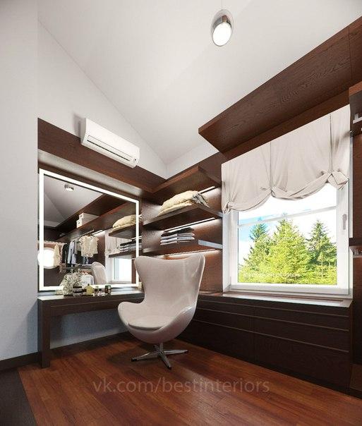 Проект гардеробной. Дизайн Интерьера гардеробной в современном стиле выполнен в тёмных тонах. Мебель… (4 фото) - картинка