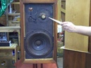 Acoustic Research AR 3 vintage Bookshelf Speaker audition mid 1960s all alnico drivers