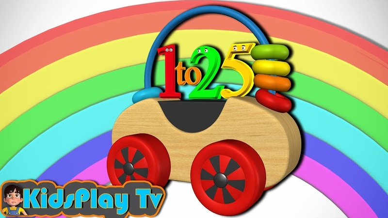 Kids Play Tv - Learn 1 to 25 Numbers for Kids Toddlers Children with Wooden Toy
