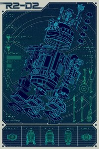 Posters: R2-D2 Schematics.