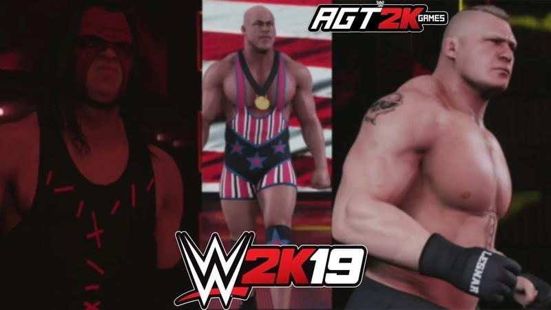 AGT - WWE 2K19| Entrances with Pyro (Kane, AJ Styles, Brock Lesnar, Jeff Hardy Kurt Angle)