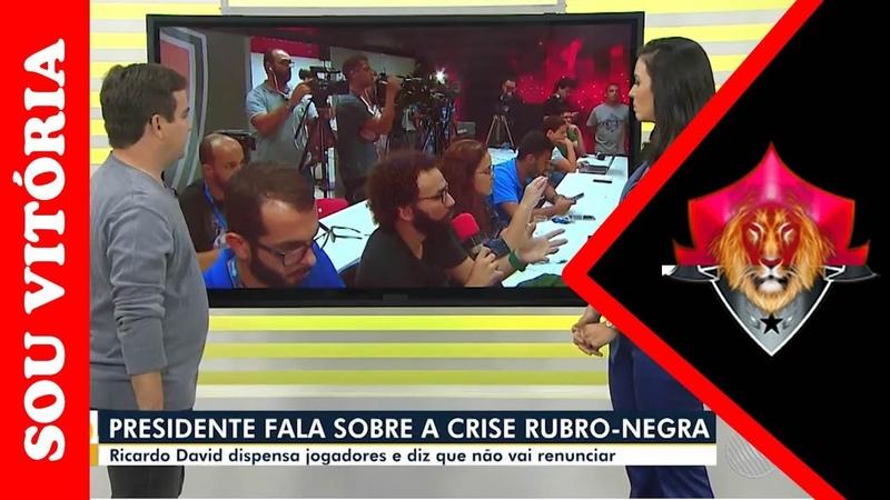 Pressionado o presidente Ricardo David diz que não renuncia e Jorge Macedo segue no clube