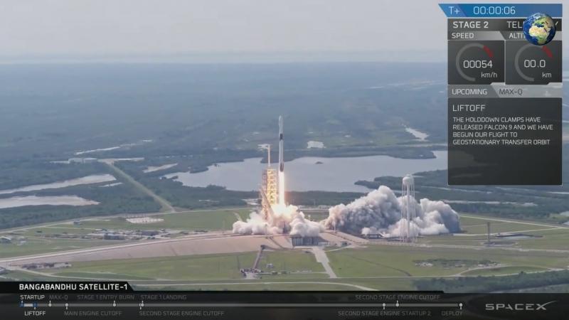 SpaceX запустила ракету Falcon 9 с новым разгонным блоком