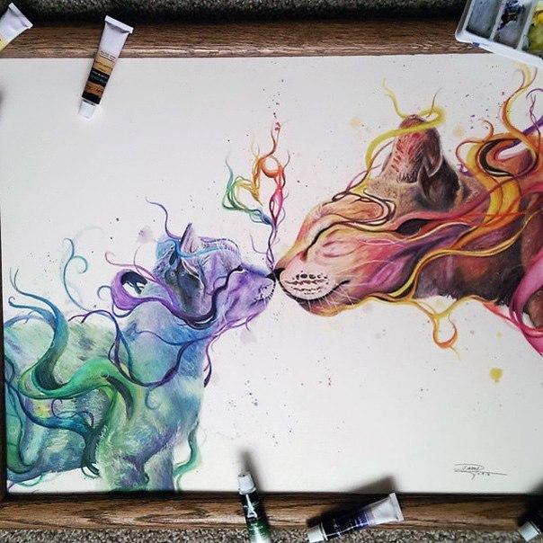 17-летняя художница-самоучка создаёт потрясающие рисунки с п