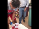Beer Pong inside a gas station, gone rong