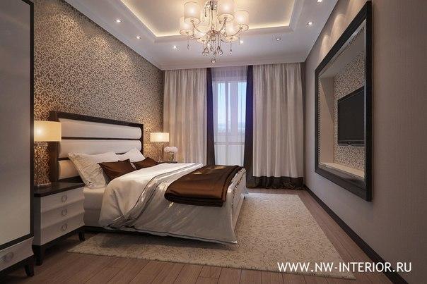 Спальня в бежевых тонах дизайн фото.