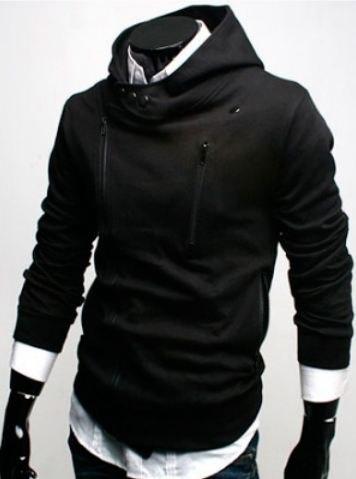 Мужская толстовка Neck Button Black черного цвета. 3d3bab7e7543a