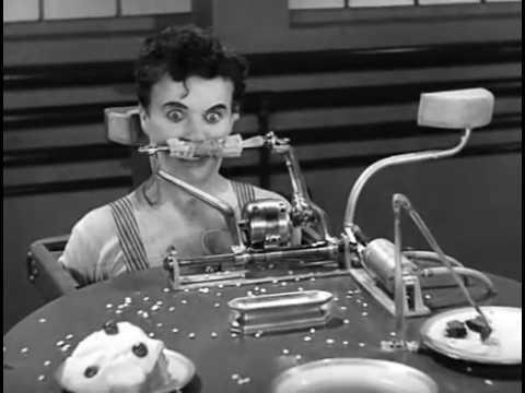 Charlie Chaplin Eating Machine Rescored by Oren Lok