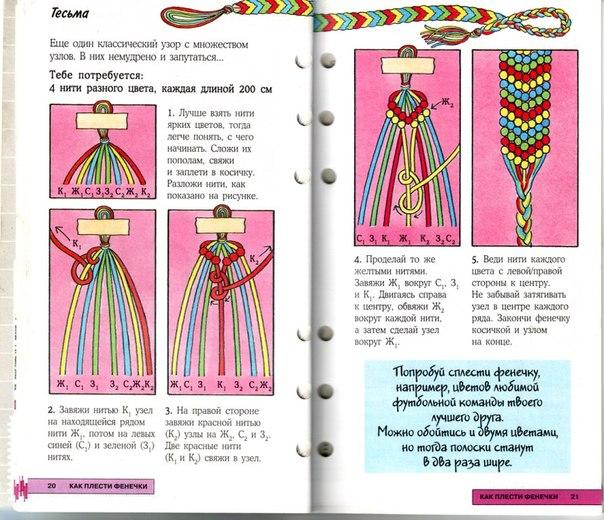 Мастер класс плетения фенечки из мулине
