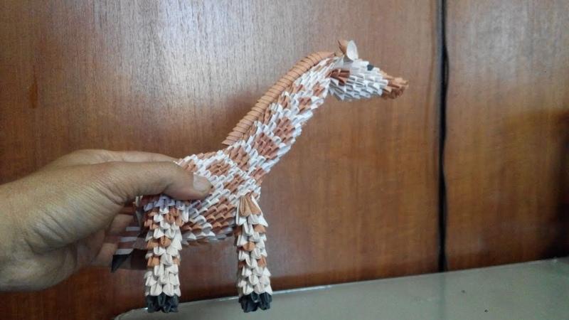 Paper craft 3d origami Giraffe tutorial part 2