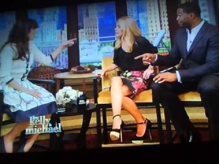 Zooey Deschanel on Live With Kelly & Michael (Part 2)
