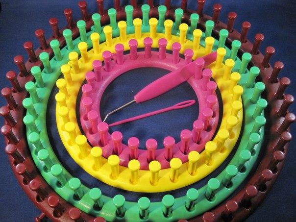 вязание на луме Knitting Loom и тенерифе вконтакте