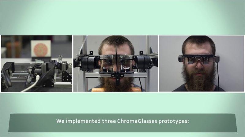 ChromaGlasses: Computational Glasses for Compensating Colour Blindness