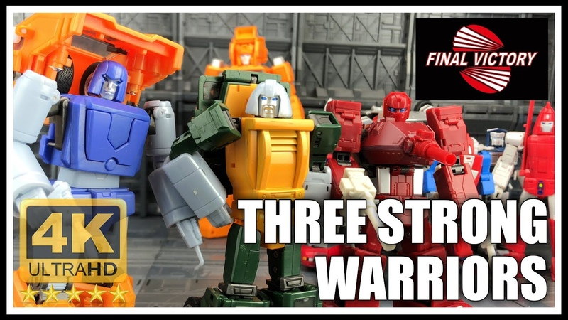 Final Victory THE STRONG WARRIORS Transformers Masterpiece scale Brawn Huffer and Warpath