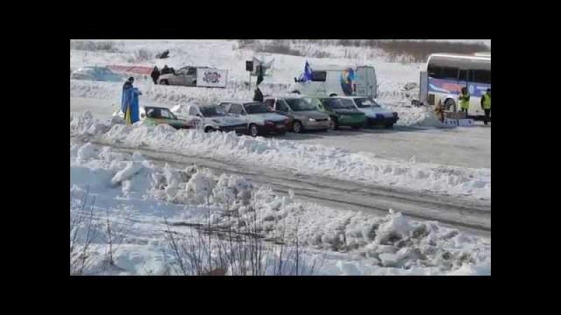 Трековые автогонки.передний привод 6 заезд (г.Пенза автодром Вираж 1.03.2015г)