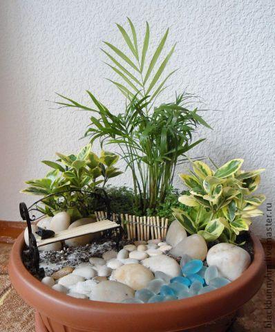 Мини-сад в горшке Автор: BlackBunny (Наталья Тимофеева)