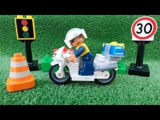 Мультик Lego про машинки - Полицейский мотоцикл - Игры для мальчиков