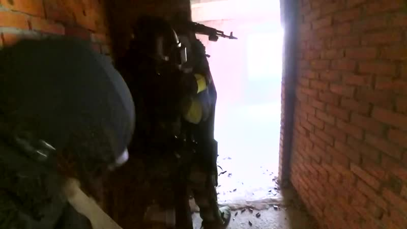 Тактические учения СОБРа со щитом