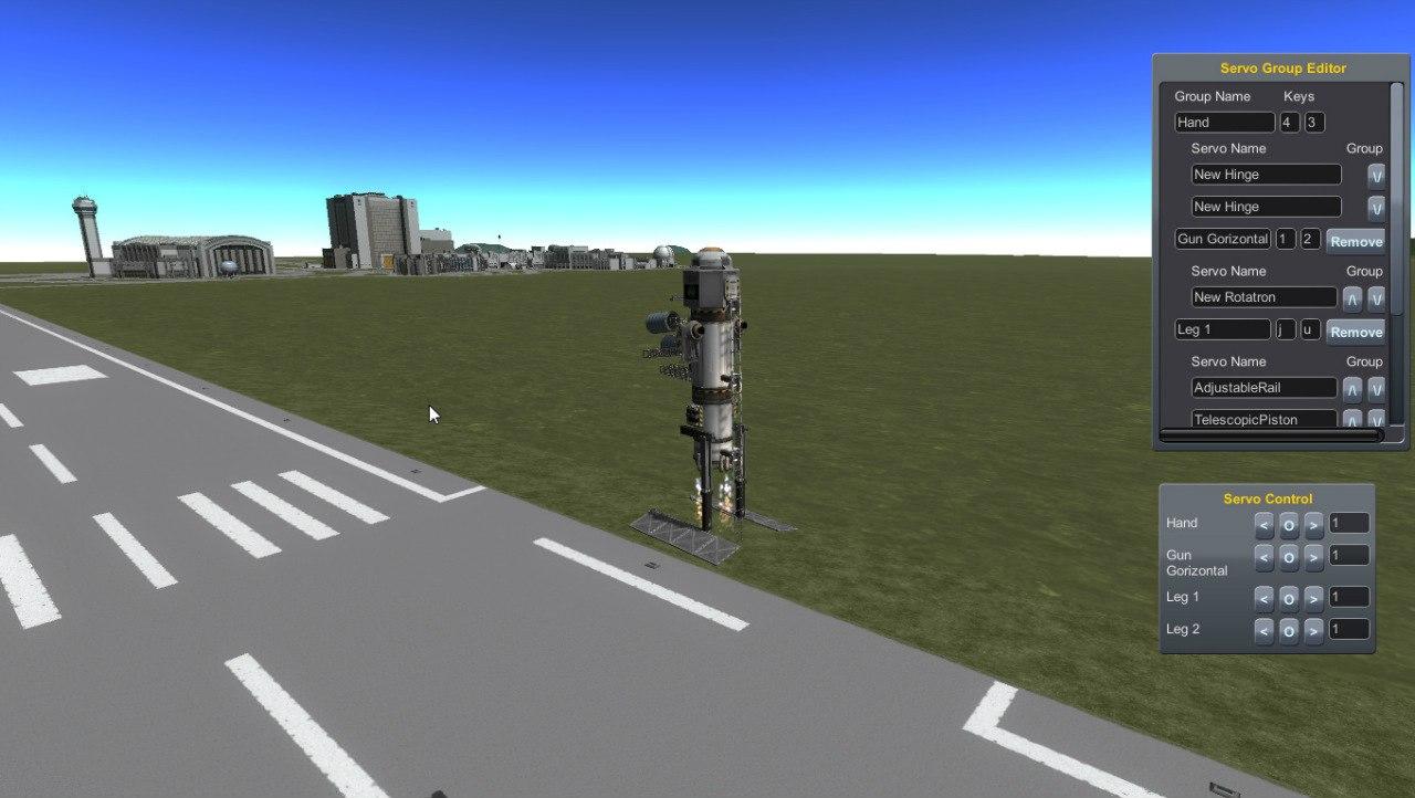 Робот на двух ногах с тремя пушками на вооружении.