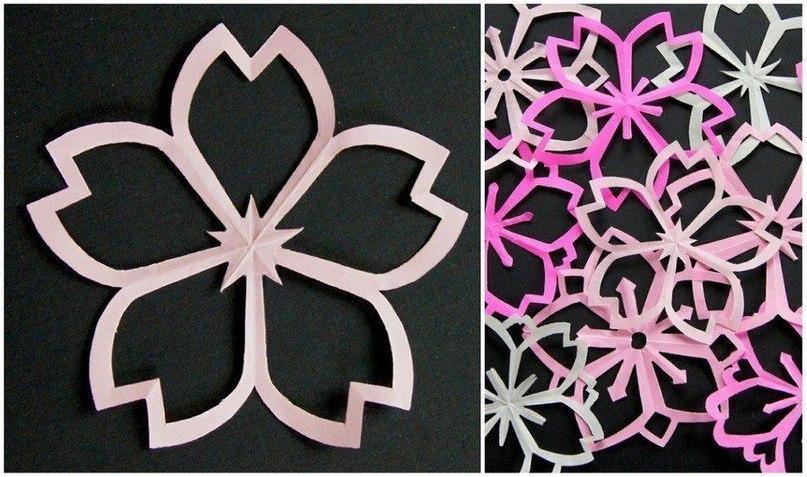 Цветы из кожи кНовогодние снежинки из бумаги