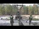 Военные инженеры ЦВО навели паромную переправу на реке под Саратовом