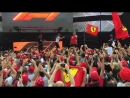 Italy 2018 Seb and Kimi arrive on stage