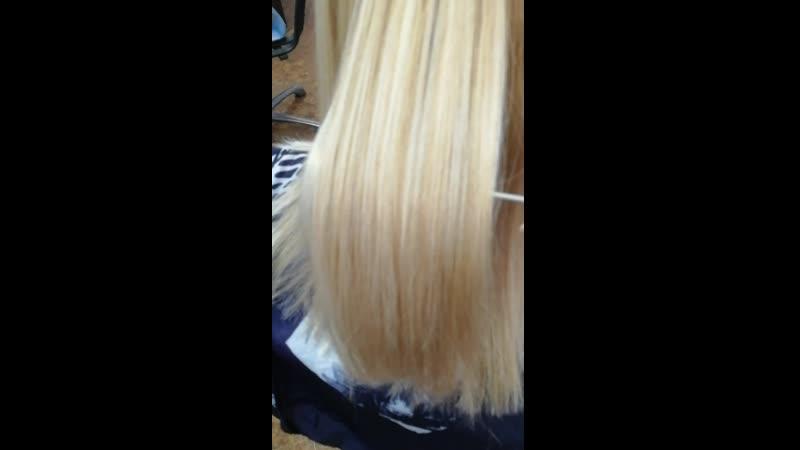 Ботокс на осветленных волосах