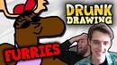 DRUNK DRAWING FURRIES