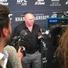 "Danawhite 's final statement backstage at the media scrum UFC229"""