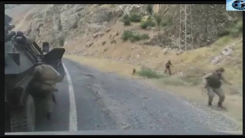 Askere yapılan hain saldırı görüntüleri-şehit haberleri