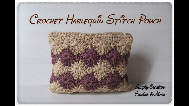 Crochet Multipurpose Pouch/Bag | Harlequin Stitch in rounds