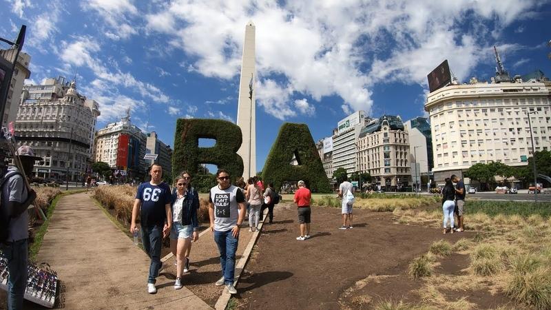 БУЭНОС АЙРЕС АРГЕНТИНА BUENOS AIRES ARGENTINA 4K Путешествия от первого лица